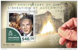 SOLOMON Isl. 2015 - WW2: Liberation Of Auschwitz S/S - 2. Weltkrieg