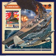 NIGER 2017 - Military Ships In World War 2, S/S. Official Issue - WW2