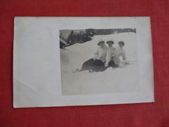 RPPC    3 Female In Snow Switzerland Stamp & Cancel Ref 2751 - Fashion
