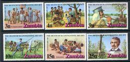 Zambia 1973 Death Centenary Of Dr. Livingstone HM (SG 190-95) - Zambia (1965-...)