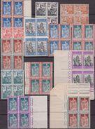 Italia Regno 1928 – Emanuele Filiberto In Blocchi Da Quattro ( N. 226/38 )**. Cert. Biondi. Cat. € 6500,00. - 1900-44 Vittorio Emanuele III