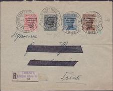 """Italia Regno 1922 Lettera Raccomandata Da Trieste Per Città, Affrancata Con Serie """"Congresso Filatelico"""" Nel Primo Gior - 1900-44 Vittorio Emanuele III"""