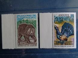 ANDORRE 1971 Y&T N° 210 & 211 ** - PROTECTION DE LA NATURE, MAMMIFERE ET OISEAU - French Andorra