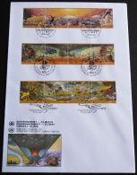 UNO NEW YORK - WIEN - GENF 1993 TRIO-FDC Umwelt - Klima - New York/Geneva/Vienna Joint Issues