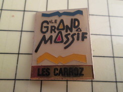 Pin713A Pin's Pins / Beau Et Rare : VILLES / ALPES LE GRAND MASSIF LES CARROZ - Cities