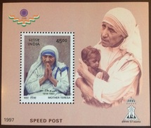 India 1997 Mother Teresa Minisheet MNH - Blocks & Sheetlets