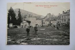 CPA 12 AVEYRON SAINT GENIEZ D OLT. Place Neuve. 1908. - Autres Communes