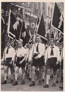 """III. Reich, Propaganda  Karte,  Sammelwerk """" Deutschland Erwacht """", Deutsche Jugend Marschiert - Guerra 1939-45"""