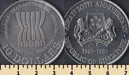 Singapore 10 Dollars 1987 - Singapour