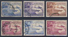 1949 Joint Issue / Gemeischaftsausgabe - Used - 6 Countries - 75th Ann. UPU / Weltpostverein - Hermes, Globe, Transport - Gezamelijke Uitgaven