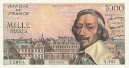 Billet De 1000 Francs Richelieu Du 5 5 1955 Spl Juste épinglage BDF - 1871-1952 Gedurende De XXste In Omloop
