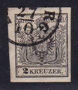 AUSTRIA / ÖSTERREICH - 1850 : 2 Kr.  ( Mi. 2 ) - OBLITÉRATION / CANCELLATION : ...RG (ab192) - Usados