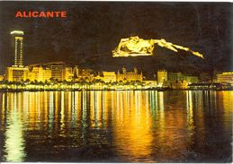 Espagne - Comunidad Valenciana - Alicante - Vue Nocturne - J. Jimenez Nº 1 - Ecrite, Timbrée - 3396 - Alicante