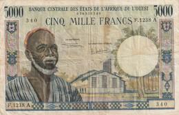Billet De 5000 Francs Banque Centrale Des états De L'Afrique De L'ouest , Lettre A - États D'Afrique De L'Ouest