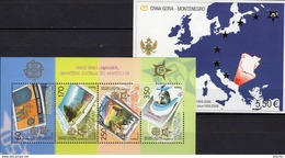 Blocks MONTENEGRO Block 3 B+MACEDONIA Bl.13 ** 65€ Mother Teresa Blocs S/s Stamps On Stamp Sheets Bf CEPT 1956-2006 - Montenegro