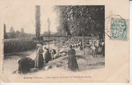 Civray-Une Lessive Au Moulin De Roche.Photo.Robuchon. - Civray