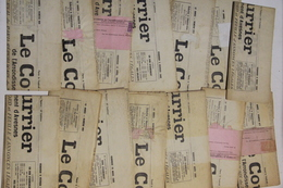 Maubeuge / Avesnes / Le Courrier / 14 Numéros / 1940. - Historische Documenten