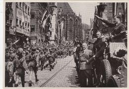 """III. Reich, Propaganda  Karte, III. Reich,Sammelwerk """" Deutschland Erwacht """", Hj. Marschiert Vor Baldur Von Schirach - Guerra 1939-45"""