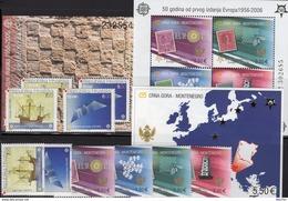 Stamp On Stamps 2006 Croatia 734/5,ZD,Bl.27,Montenegro 108/1,Block 2A+3 ** 158€ Hojita Blocs S/s Sheets M/s Bf CEPT - Croatia