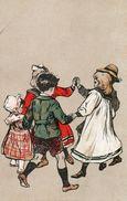 Jolie Carte Sur Theme Enfants - Femmes