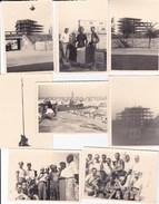 GROSSETO - COSTRUZIONE DI UN PALAZZO NEL 1955 - LOTTO DI 8 FOTO CON DIDASCALIA - Lieux