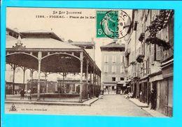 Cpa  Carte Postale Ancienne - Figeac Place De La Halle - Figeac