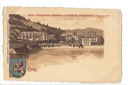 18413 - Ems Hotel Königliches Kurhaus Und Kursaal Restaurant - Bad Ems