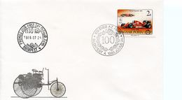 HUNGARY  -  1986 The 100th Anniversary Of Car    FDC1375 - FDC