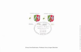 Deutschland Germany Allemagne - Wappen Von Nordrhein-Westfalen (MiNr: 1663) 1993 - Gedenkblatt !lesen/read/lire! - Storia Postale