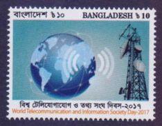 BANGLADESH 2017 MNH - World Telecommunication & Information Society Day, Globe, 1v - Bangladesh