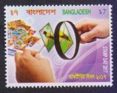 BANGLADESH 2017 MNH - Stamp Day, Philately Hobby, Hand, 1v - Bangladesh
