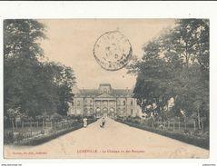 54 LUNEVILLE LE CHATEAU VU DES BOSQUETS CPA BON ETAT - Luneville