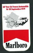 """Sticker Autocollant """"Marlboro""""  38e Tour De France Automobile - 16-20 Septembre 1979 - Course Automobile - Automobile - F1"""