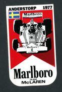 """Sticker Autocollant """"Marlboro""""  Anderstrop 1977 - Team McLaren - Course Automobile F1 - Automobile - F1"""