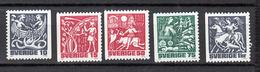 Zweden 1961 Mi Nr 1135 - 1139 Noorse Mythologie. - Svezia