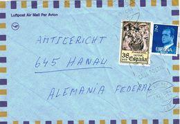 26608. Carta Aerea EL ARENAL (mallorca) Baleares 1984. Rodillo Caja Postal - 1931-Hoy: 2ª República - ... Juan Carlos I