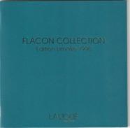 Superbe Livret LALIQUE  12 Pages FLACON COLLECTION Edition Limitée 1998 ( Flacons En Cristal ) Rare! - Cartes Parfumées