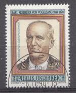 Autriche 1990  Mi.Nr: 2008 Todestag Von Karl Freiherr Von Vogelsang  Oblitèré / Used / Gebruikt - 1945-.... 2ème République