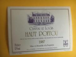 5995  - Château Le Logis 1987 Haut Poitou - Etiquettes