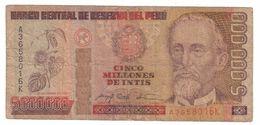 Peru 5000000 Intis 1990  .J. - Peru
