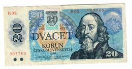 Slovakia 1993 Provisional Issue 20 Korun  .J. - Slovaquie