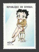 SENEGAL 1999 ANIMATION CARTOONS FILMS BETTY BOOP MNH - Senegal (1960-...)