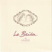 LALIQUE  Superbe Double Carte Pour Le Baiser - Cartes Parfumées