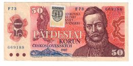 Slovakia 1993 Provisional Issue 50 Korun  .J. - Slovaquie