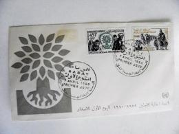 Cover From Morocco Maroc 1960 Fdc Refugies Rabat - Morocco (1956-...)