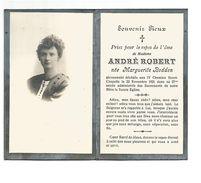 669. Mad. André ROBERT Née Marguerite BODDEN -  + IV CHEMINS HENRI-CHAPELLE 1921  (27 Ans) - Images Religieuses