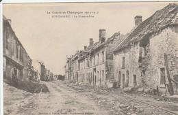 "PONTAVERT  La Grande Rue  "" Guerre 14 "" - France"