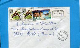MARCOPHILIE-lettre REC -Sénégal>Françe Cad St Louis Pal-1982-3-stamps -N°A164-Mermoz Aéropostale+lancer Du Javelot - Senegal (1960-...)