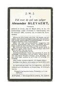 677. Alexander BLEYAERT - Jonkman - °GENT 1900  /  +/ST-TRUIDEN 1927 - Images Religieuses