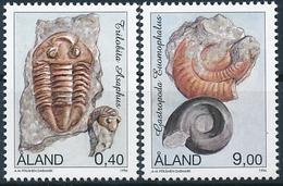 Mi 117-18 ** MNH Fossil Fossils Trilobit Asaphus Gastropode Eumaphalus - Aland